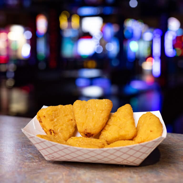 mac & cheese bites, our menu, action territory